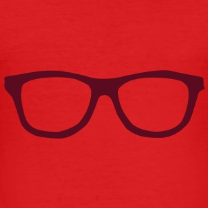 Glasses  T-Shirts - Men's Slim Fit T-Shirt