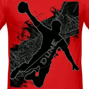Handball Action - Männer Slim Fit T-Shirt