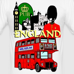 England London Big Ben Queens Guards london tower - Men's Slim Fit T-Shirt