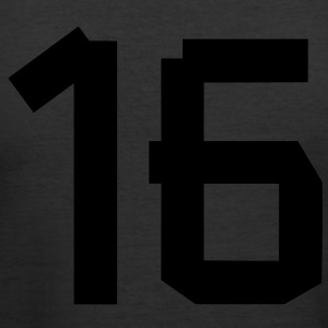 Number 16 T-Shirts - Men's Slim Fit T-Shirt