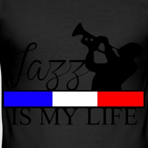 jazz is my life T-shirts - Herre Slim Fit T-Shirt