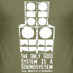 The Only Good System is a Soundsystem Slimfit - Männer Slim Fit T-Shirt