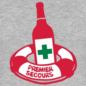 bouteille bouee secours bottle alcool Tee shirts - Tee shirt près du corps Homme