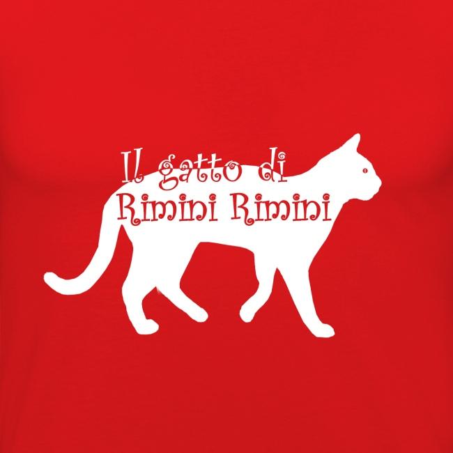 Il gatto di Rimini Rimini (SCRITTA BIANCA - MAGLIETTA TUTTI I COLORI)