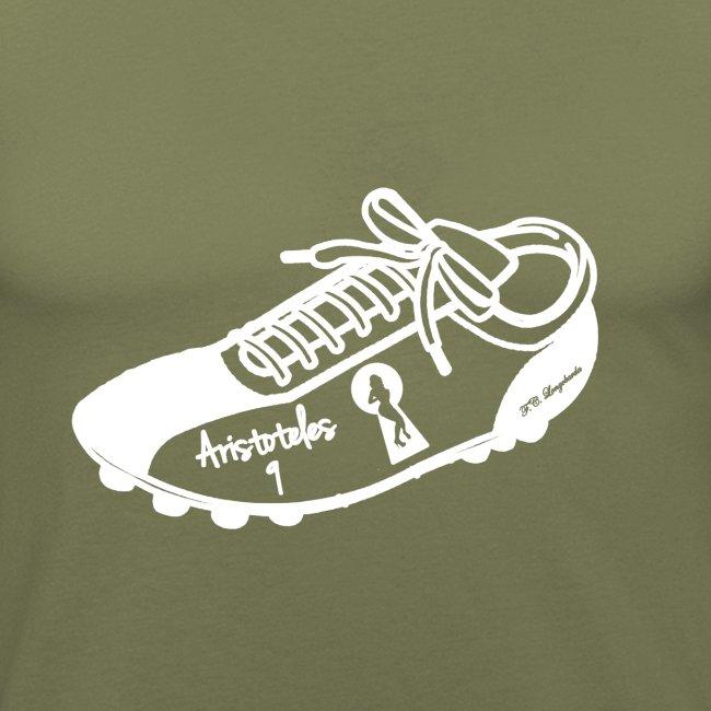 Scarpa da calcio autografata da Aristoteles (SCRITTA BIANCA - MAGLIETTA TUTTI I COLORI)