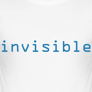 Blanc invisible Tee shirts - Tee shirt près du corps Homme