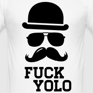 Like a fuck you only live once boss moustache Camisetas - Camiseta ajustada hombre