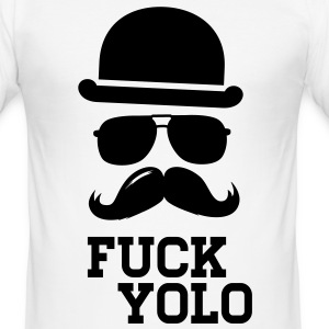 Like a fuck you only live once boss moustache Tee shirts - Tee shirt près du corps Homme