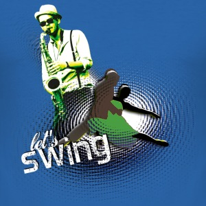 Let's swing' | Tanz Shirts - Slim Fit T-shirt herr