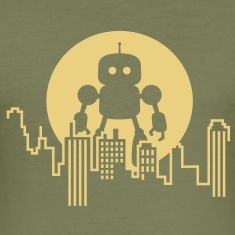 Robot City Skyline T-Shirts