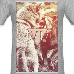 WOLFS T-Shirts - Men's Slim Fit T-Shirt