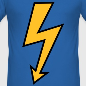 Lightning Arrow Power High Voltage Electrician T-Shirts - Men's Slim Fit T-Shirt