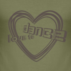 love to dance  | Tanzshirts   T-Shirts - Slim Fit T-skjorte for menn