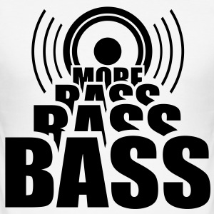 More Bass Lautsprecher Bassgitarre Musik T-Shirts - Männer Slim Fit T-Shirt