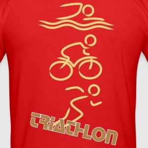 Triathlon orange - Männer Slim Fit T-Shirt