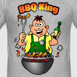 BBQ King T-Shirts - Männer Slim Fit T-Shirt