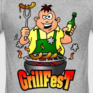 Grillfest T-skjorter - Slim Fit T-skjorte for menn