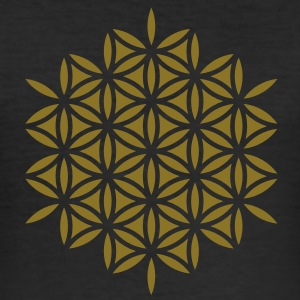 Flower of Life, Sacred Geometry, Yoga, Meditation, Zen, T-Shirts - Men's Slim Fit T-Shirt