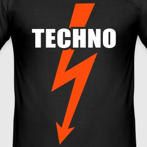 Techno muziek  Bass Beats Drums Hardstyle T-shirts - slim fit T-shirt