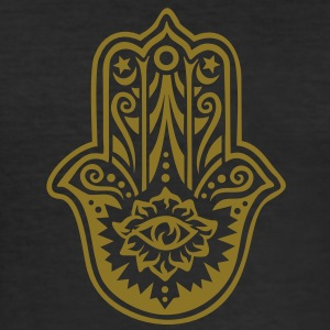 Hamsa Amulet, Hand of Fatima, Divine Protection T-shirts - Herre Slim Fit T-Shirt