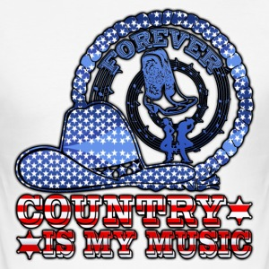 forever country is my music Tee shirts - Tee shirt près du corps Homme