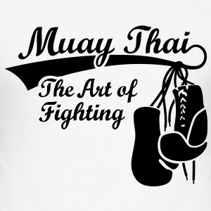 Muay Thai - The Art of Fighting T-Shirts - Men's Slim Fit T-Shirt