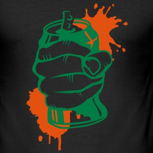a hand crushing a soda can T-Shirts - Men's Slim Fit T-Shirt