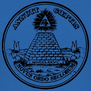 All seeing eye, pyramid, dollar, freemason, god T-shirts - Slim Fit T-shirt herr