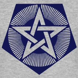 Light Pentagram - crop circle - Bedfordshire GB T-Shirts - Men's Slim Fit T-Shirt