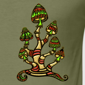 Magic mushrooms, psychedelische Pilze, Wunderland Tee shirts - Tee shirt près du corps Homme