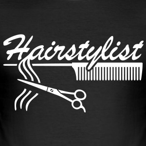Hairstylist Barber Styling Comb hair scissors  - Men's Slim Fit T-Shirt