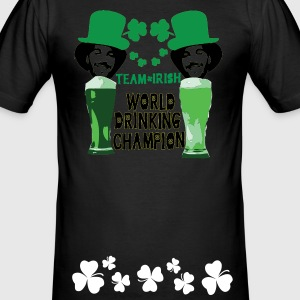 World Drinking champion st.patty's day Men's Slim  - Men's Slim Fit T-Shirt