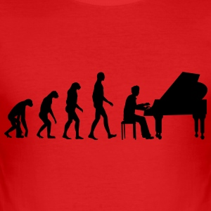 piano evolution T-shirts - Slim Fit T-shirt herr