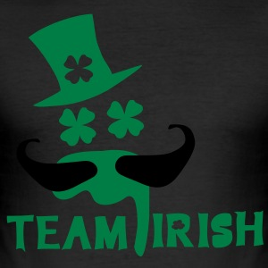 TEAM IRISH  green beer st.Patrick's day Men's Slim - Men's Slim Fit T-Shirt