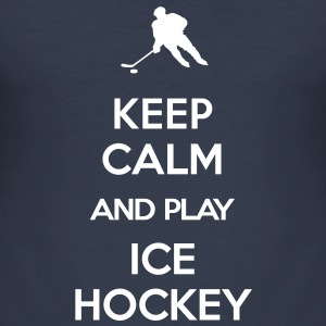 keep calm and play ice hockey T-Shirts - Men's Slim Fit T-Shirt