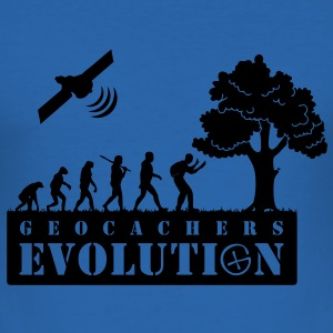 GEOCACHERS EVOLUTION T-Shirts - Men's Slim Fit T-Shirt