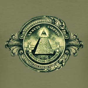 All seeing Eye, Pyramid, Dollar, Symbols, T-shirts & Hoodies - Men's Slim Fit T-Shirt