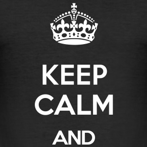 KEEP CALM AND (old style) T-Shirts - Men's Slim Fit T-Shirt