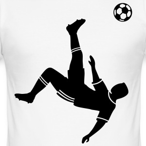 Bicycle kick soccer ball soccer player football T-Shirts - Men's Slim Fit T-Shirt