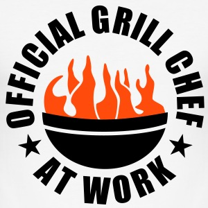 Official BBQ Chef at Work.Barbecue grill cook T-Shirts - Men's Slim Fit T-Shirt