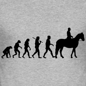 Evolution Horse Riding T-Shirts - Men's Slim Fit T-Shirt