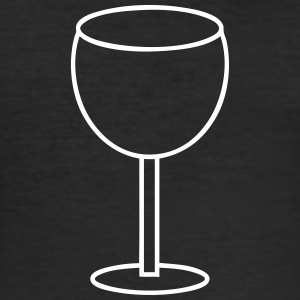 Wine Glass T-Shirts - Men's Slim Fit T-Shirt