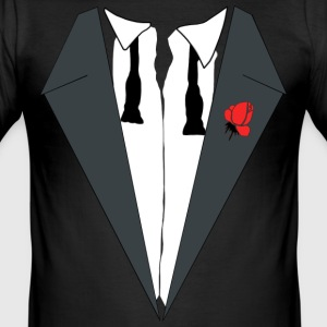 AFTER PARTY SMOKING (TUXEDO) - Männer Slim Fit T-Shirt