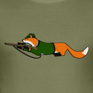fox Hunting T-Shirts - Men's Slim Fit T-Shirt