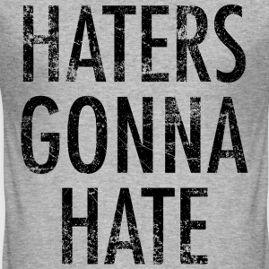 Haters gonna hate vintage noir - Tee shirt près du corps Homme