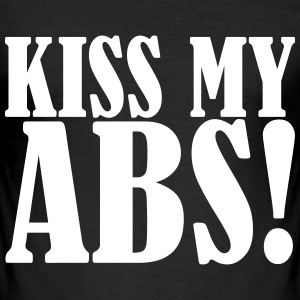Kiss My Abs T-Shirts - Men's Slim Fit T-Shirt