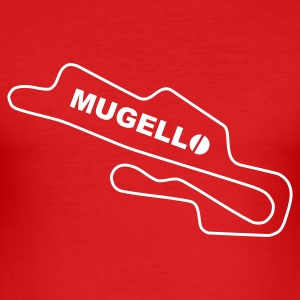 Race Track Mugello Ducati Superbike - Men's Slim Fit T-Shirt