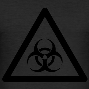 Hazard Symbol - Biohazard T-Shirts - Men's Slim Fit T-Shirt