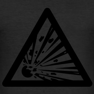Hazard Symbol - Explosives T-Shirts - Men's Slim Fit T-Shirt