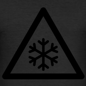 Hazard Symbol - Low Temperatures T-Shirts - Men's Slim Fit T-Shirt
